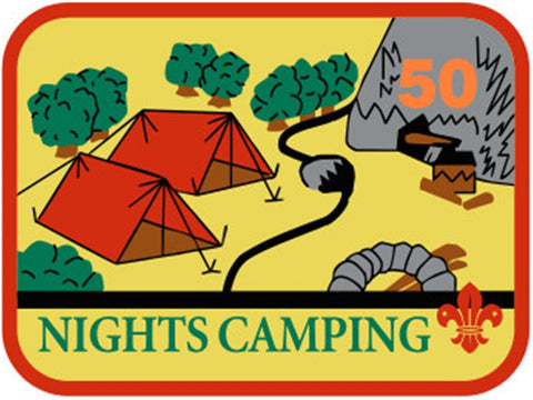 BLANKET PATCH - 50 NIGHTS CAMPING
