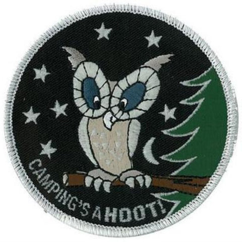 BLANKET PATCH - CAMPING'S A HOOT!