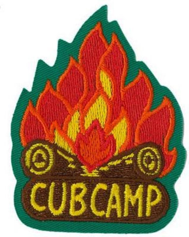 BLANKET PATCH - CUB CAMP (campfire)