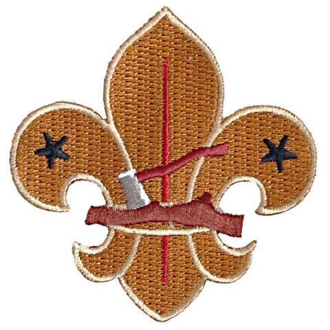 BLANKET PATCH - LOG AND AXE FLEUR-DE-LIS