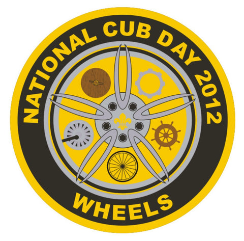 BLANKET PATCH - NATIONAL CUB DAY 2012 - WHEELS