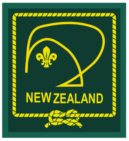 BLANKET PATCH - NEW ZEALAND - GREEN STYLISED KIWI