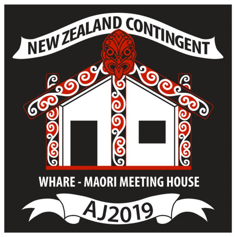 BLANKET PATCH - NEW ZEALAND CONTINGENT AJ2019 - WHARE MAORI MEETING HOUSE