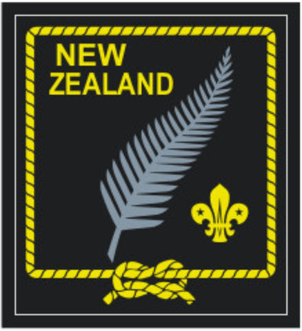 BLANKET PATCH - NEW ZEALAND SILVER FERN WITH FLEUR-DE-LIS