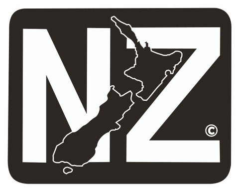 BLANKET PATCH - NZ WITH MAP - GLOW IN THE DARK