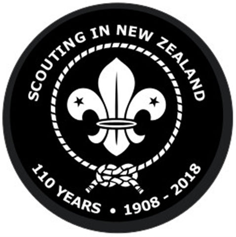 EVENT BADGE - SCOUTING IN NEW ZEALAND 110 YEARS - 1908 - 2018