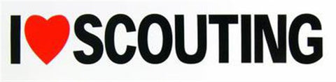 BUMPER STICKER - I LOVE SCOUTING