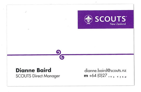 OFFICIAL SCOUTS NEW ZEALAND BUSINESS CARDS