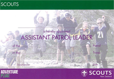 CERTIFICATE - SCOUT - ASSISTANT PATROL LEADER