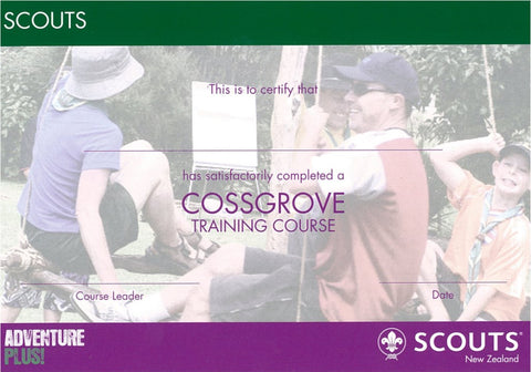 CERTIFICATE - SCOUT - COSSGROVE TRAINING COURSE - RESTRICTED