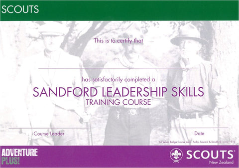 CERTIFICATE - SCOUT - SANDFORD LEADERSHIP SKILLS - RESTRICTED