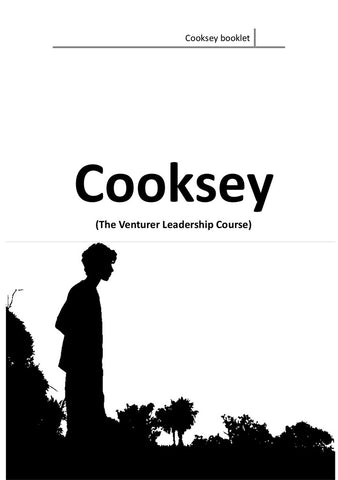 COOKSEY BOOK (THE VENTURER LEADERSHIP COURSE)