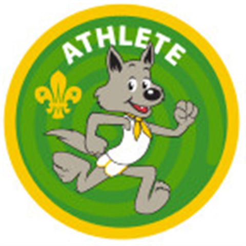 CUB BADGE - ATHLETE - STAGE THREE, GREEN