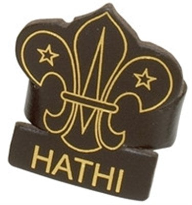 CUB LEADER LEATHER WOGGLE - HATHI
