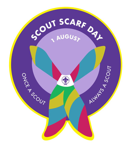 EVENT BADGE - SCOUT SCARF DAY - YELLOW BORDER