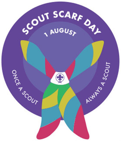 EVENT BADGE - SCOUT SCARF DAY - PURPLE BORDER