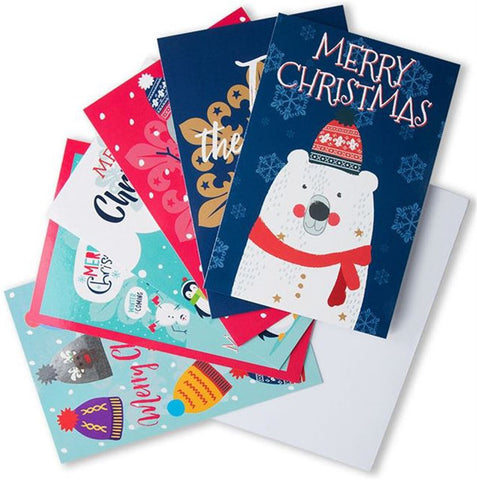 FLEUR-DE-LIS CHRISTMAS CARDS - PACK OF SIX