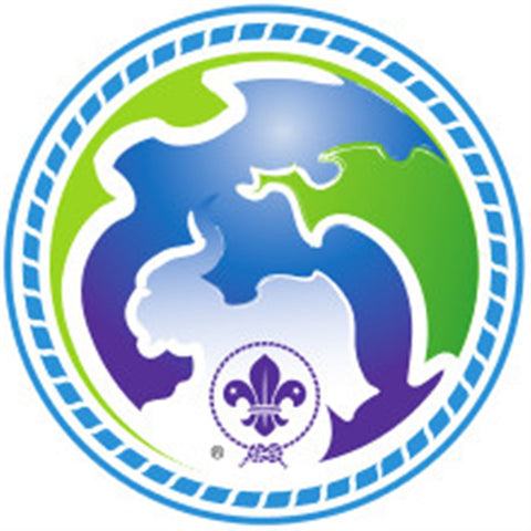 KEA AND CUB BADGE - WORLD SCOUT ENVIRONMENT PROGRAMME - BLUE