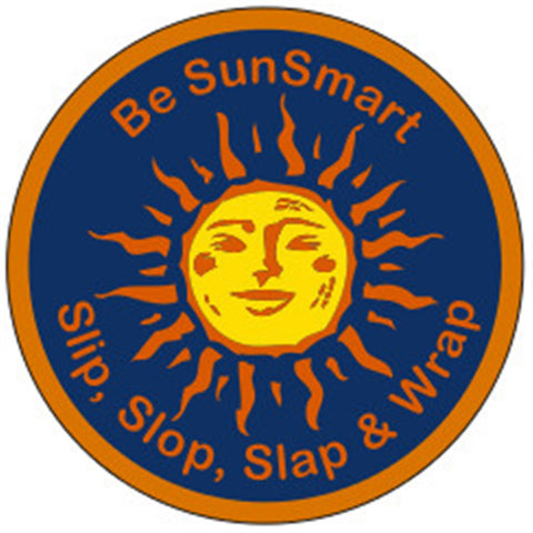 KEA BADGE - BE SUN SMART - SLIP, SLOP, SLAP & WRAP