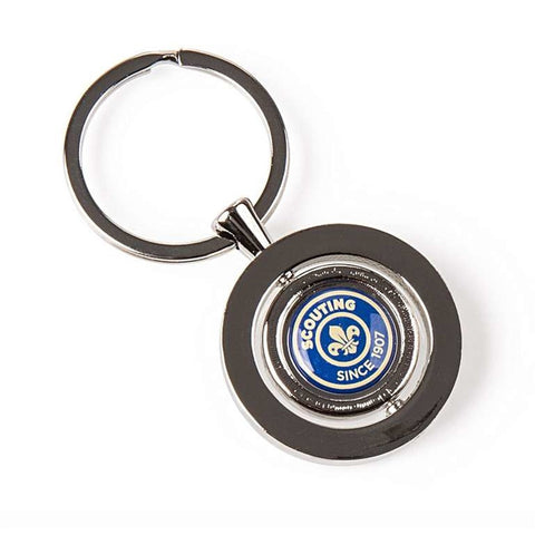 KEYRING - CAMEO SPINNER KEY RING - SCOUTING SINCE 1907