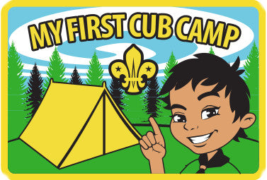 BLANKET PATCH - MY FIRST CUB CAMP - WOVEN