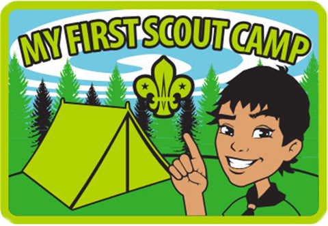 MY FIRST SCOUT CAMP BLANKET PATCH