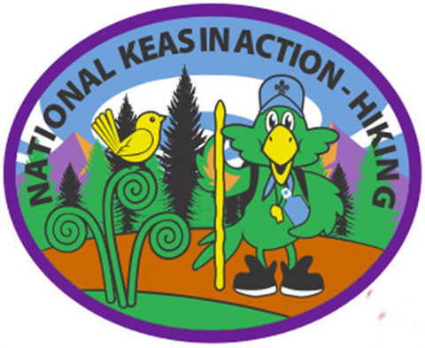 NATIONAL KEAS IN ACTION - HIKING BADGE - PURPLE BORDER