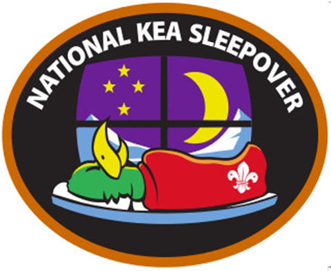 NATIONAL KEA SLEEPOVER BADGE - ORANGE BORDER