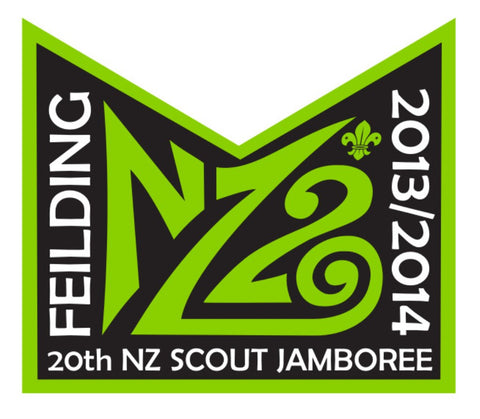 NZ20 FEILDING 20TH NZ SCOUT JAMBOREE 2013 / 2014 STICKER - SMALL