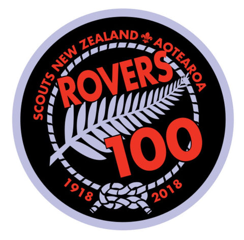 ROVER BADGE - SCOUTS NEW ZEALAND AOTEAROA - ROVERS 100 - 1918 - 2018