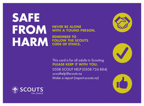SAFE FROM HARM CARD