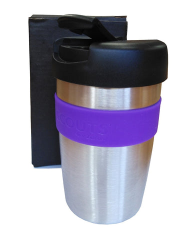 SCOUTS NEW ZEALAND STAINLESS STEEL CUP WITH LID