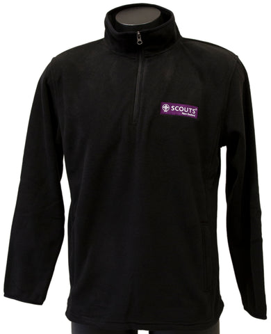 SCOUTS NEW ZEALAND BLACK POLAR FLEECE