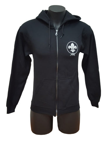 SCOUTS NEW ZEALAND BLACK ZIP-UP HOODIE