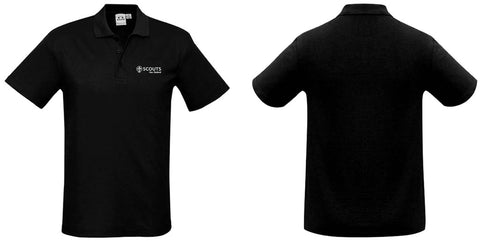 SCOUTS NEW ZEALAND POLO SHIRT - BLACK