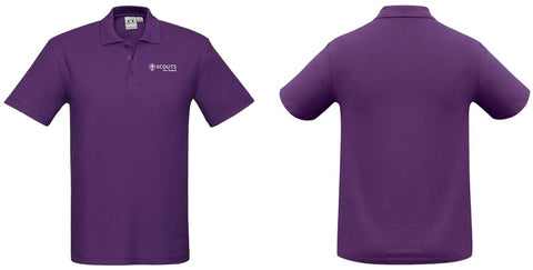 SCOUTS NEW ZEALAND POLO SHIRT - PURPLE