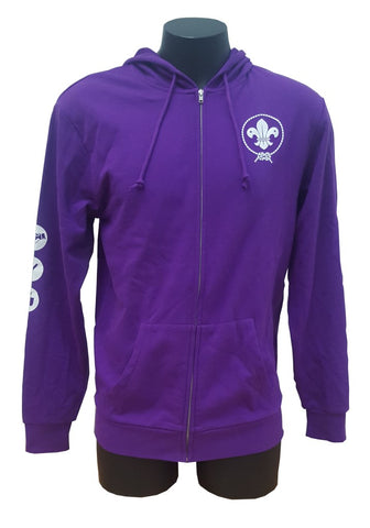 SCOUTS NEW ZEALAND PURPLE ZIP-UP HOODIE
