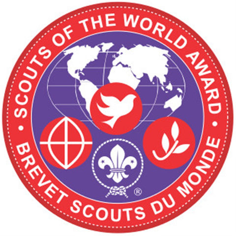 VENTURER AND ROVER BADGE - SCOUTS OF THE WORLD AWARD - RESTRICTED