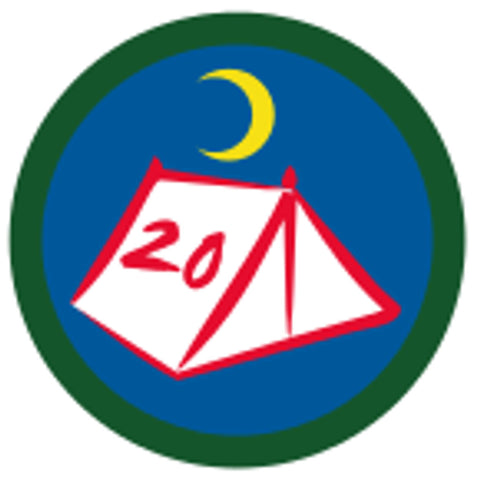 SCOUT BADGE - 20 NIGHTS CAMPING