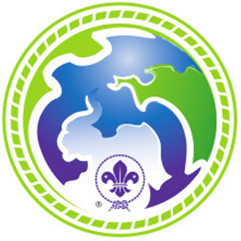 SCOUT BADGE - WORLD SCOUT ENVIRONMENT PROGRAMME - GREEN