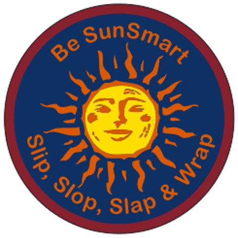 VENTURER BADGE - BE SUN SMART - SLIP, SLOP, SLAP & WRAP