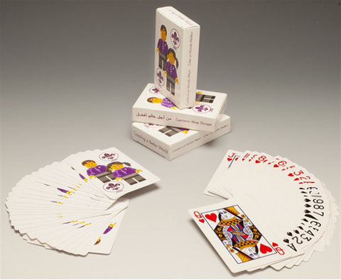 WORLD SCOUT CREATING A BETTER WORLD MINIFIG PLAYING CARDS