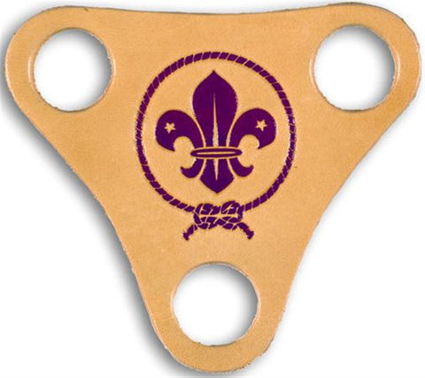 WORLD SCOUT THREE HOLE LEATHER WOGGLE - LEADERS ONLY