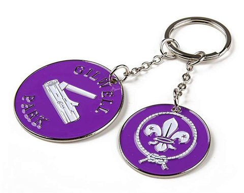 KEYRING - WORLD SCOUTS AND GILWELL PARK CHARM KEY RING