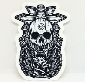 "Sticker Dark Horizons 3"" w x 4"" h"