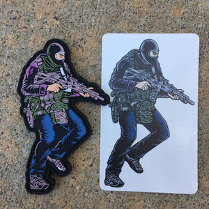 "Patch and Sticker SAS Who Dares Wins Color  4"" x 2.5"""