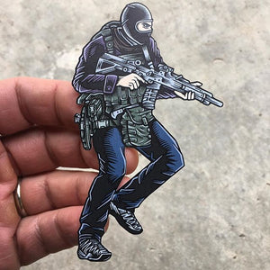 "Sticker SAS Who Dares Wins Color 4"" x 2.5"""