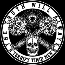Sticker The Truth Will Always Terrify Timid Men 4x4