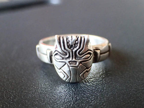 Black Panther Inspired Sterling Silver Ring