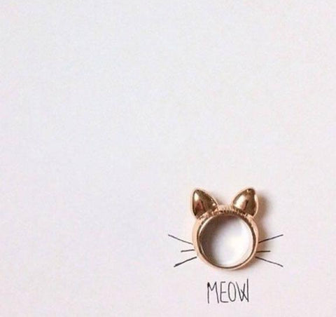 WOO LOO FASHION-Cat Head Rings